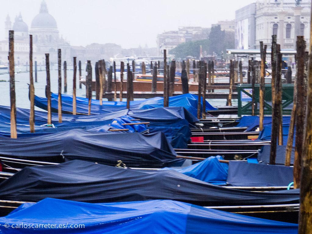 Bajo la lluvia en el muelle de San Zaccharia - Venecia