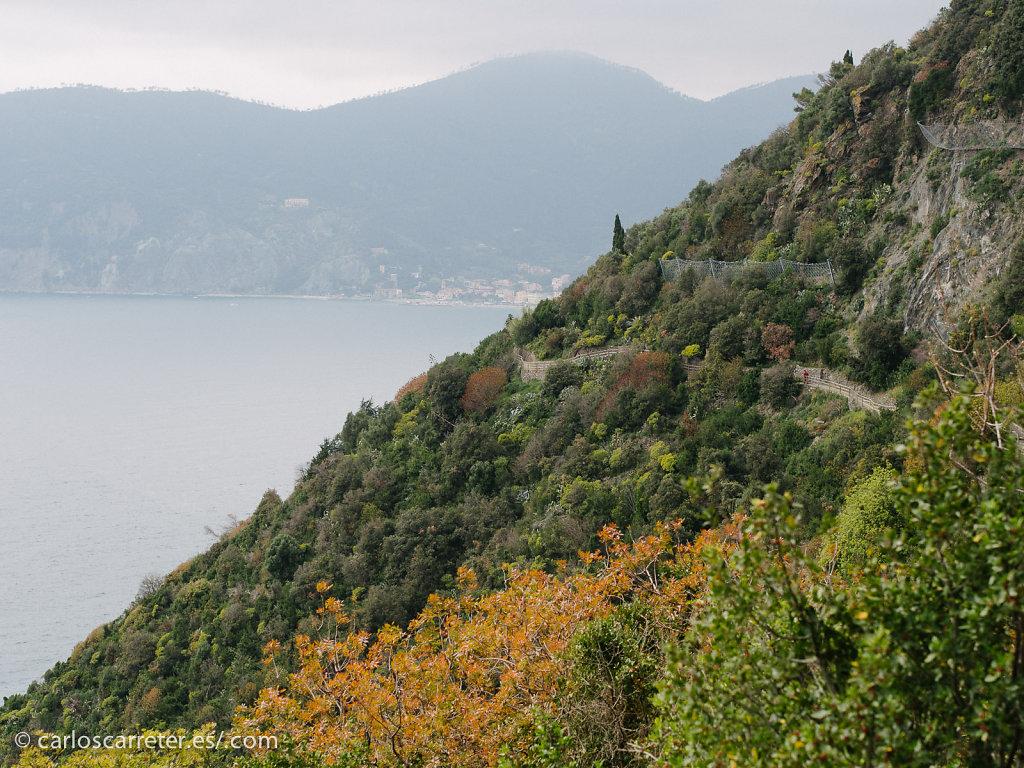 Entre Vernazza y Corniglia