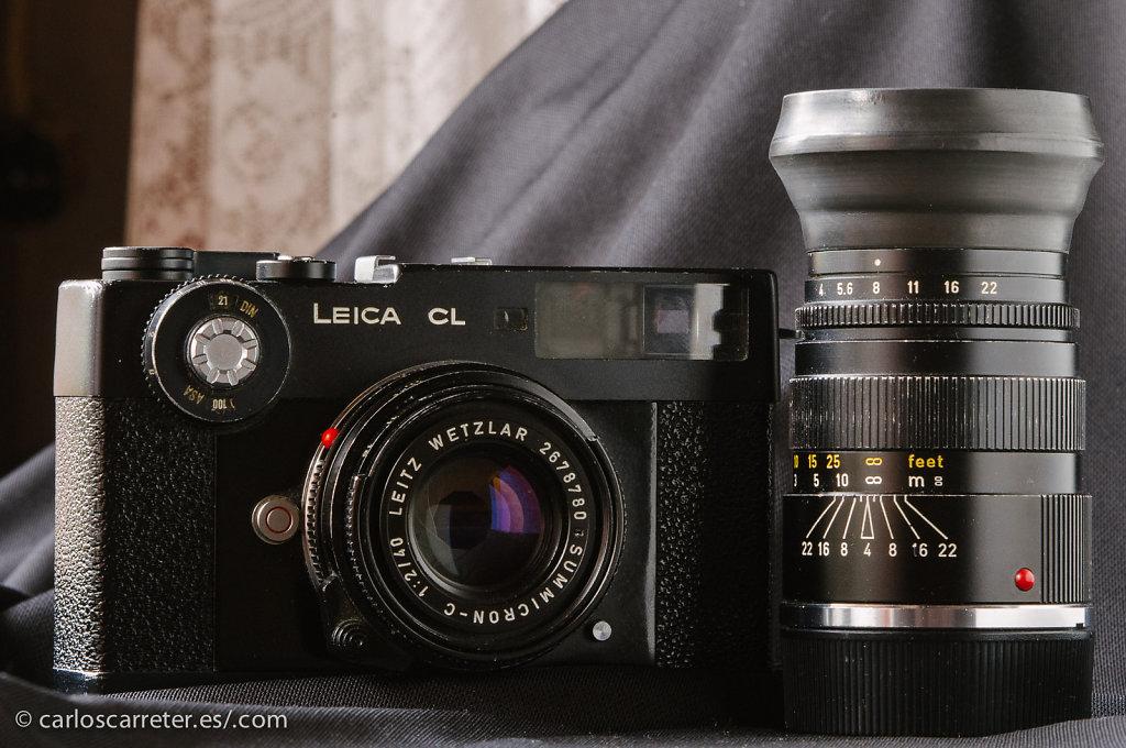 Leica CL + Summicron-C 40/2 + Elmar-C 90/4