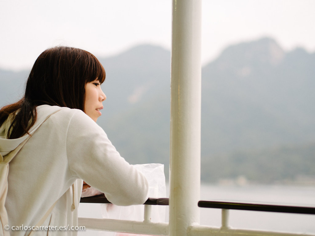 En el ferry - Miyajima