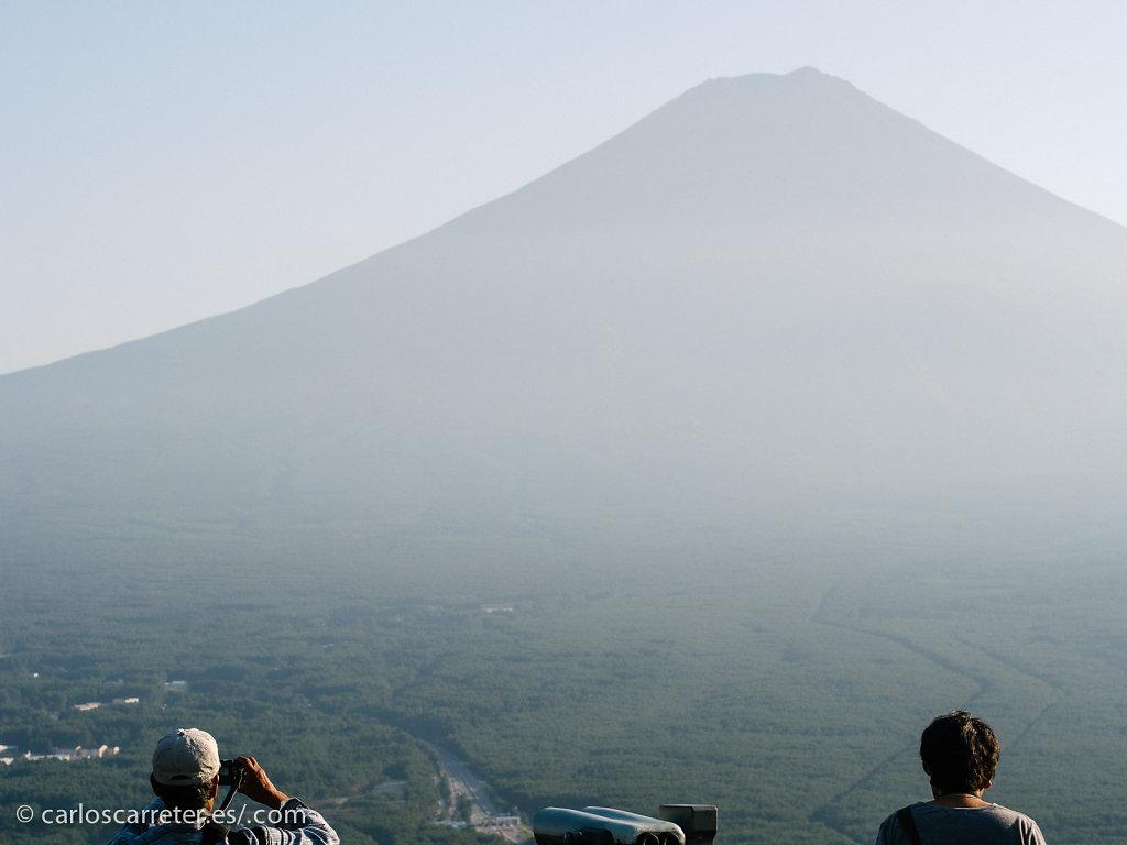 Monte Fuji desde la estación superior del funicular Kachi Kachi