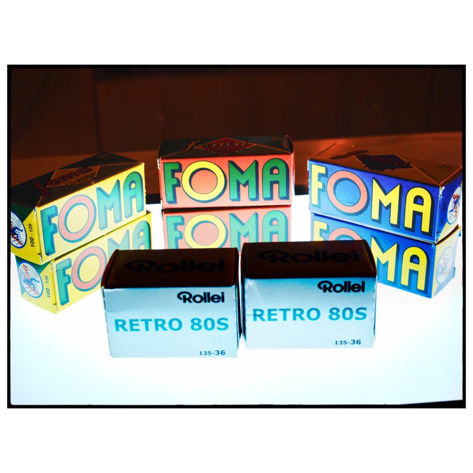 10 Rollos De Fomapan 200 ISO 200 Blanco Y Negro 120 medio formato cámara de película